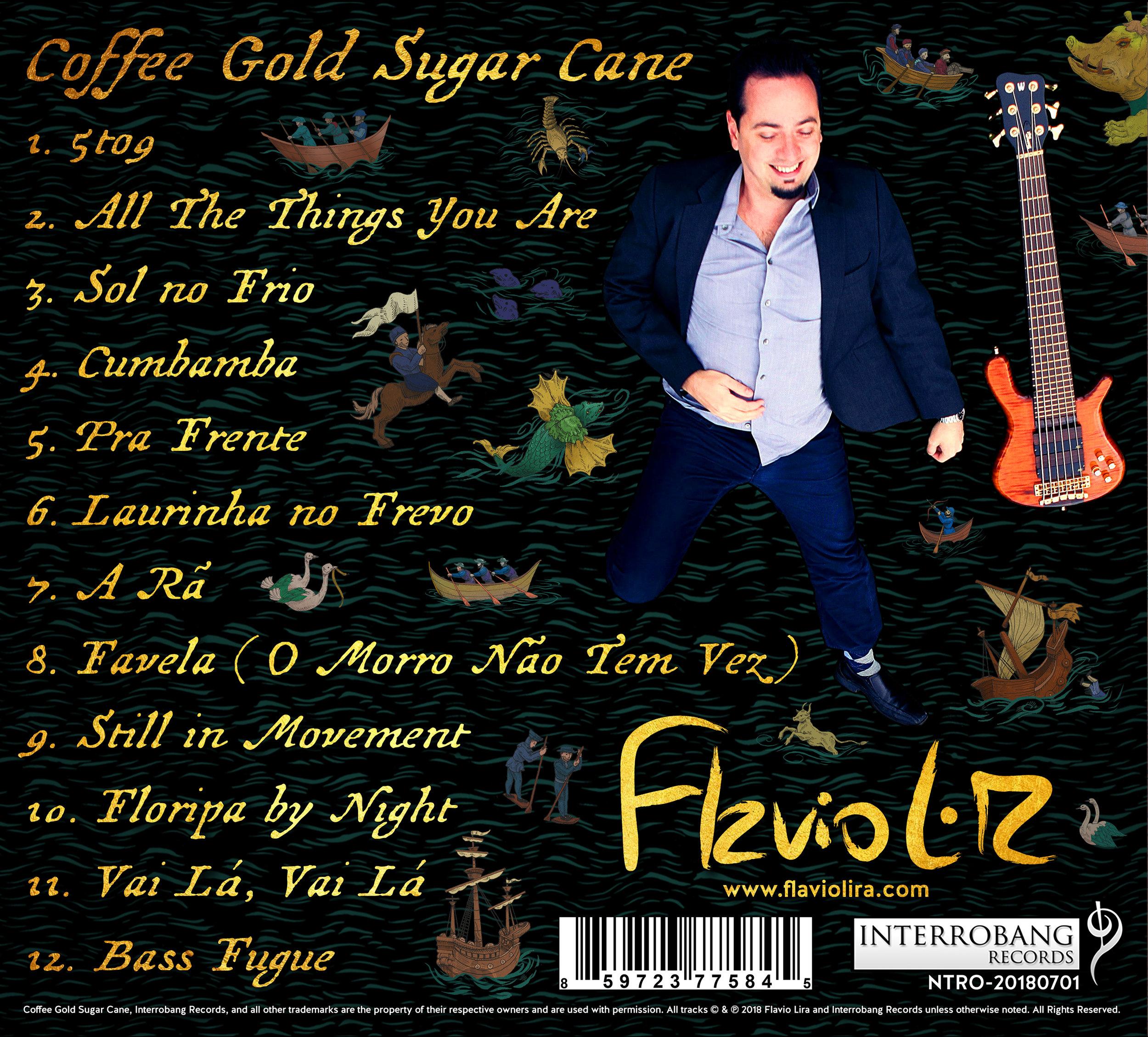 """Back Cover : """"Coffee Gold Sugar Cane"""" by Flavio Lira"""