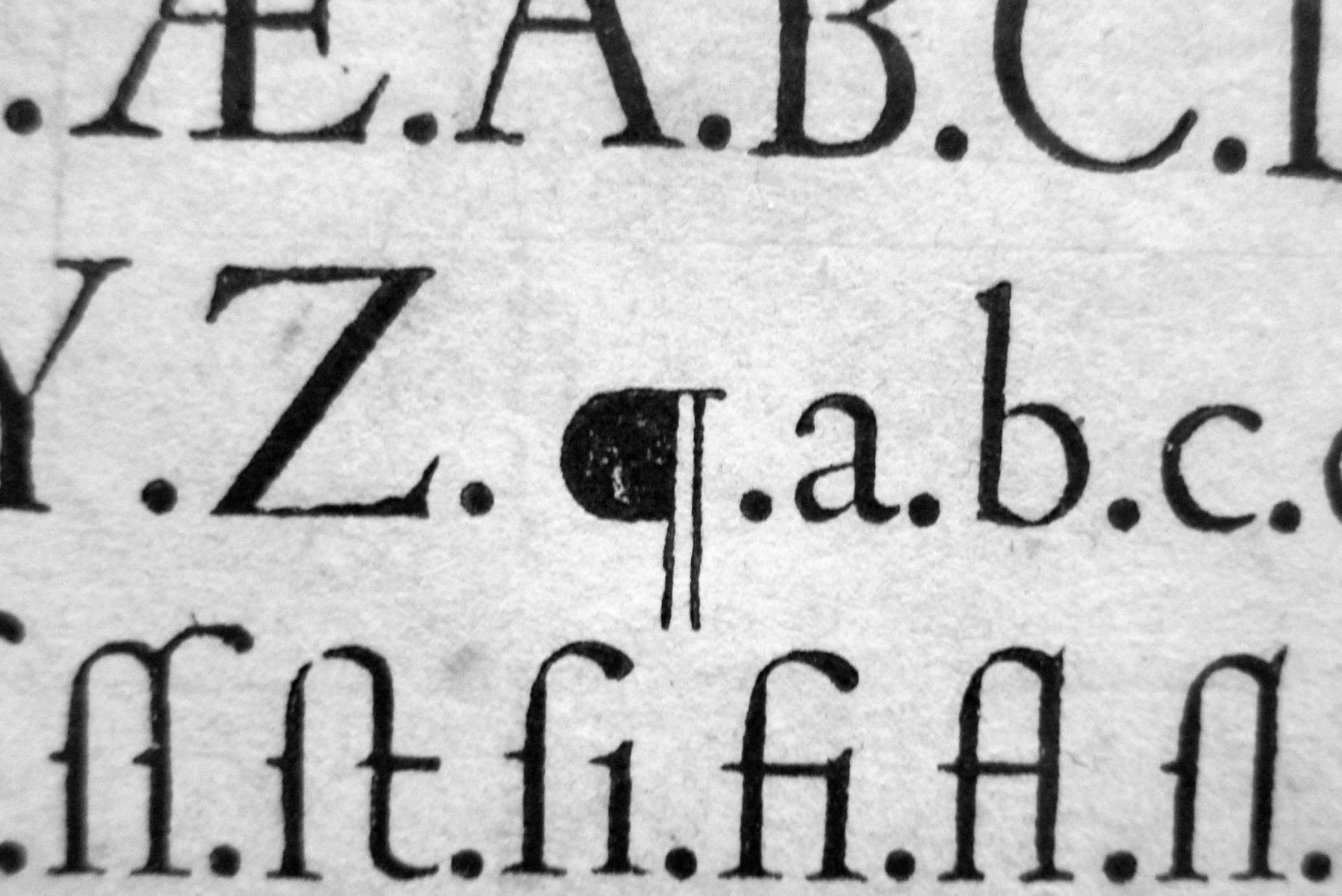 François Guyot, Type Specimen, c 1565 (Folger Shakespeare Library)