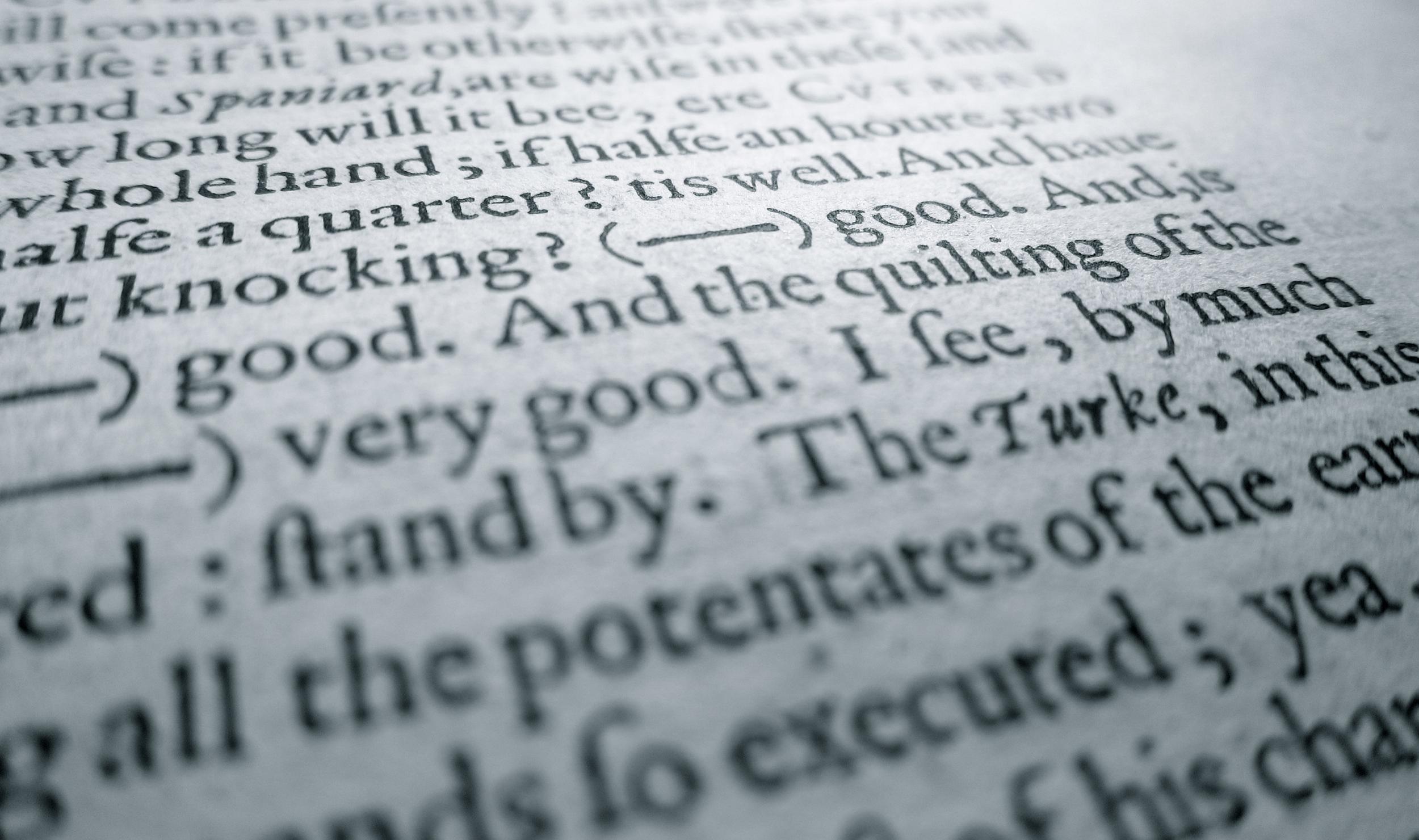 """Detail of """"Epicoene"""" in  The Workes of Beniamin Jonson , 1616 (Folger Shakespeare Library) [STC 14751 (Copy 1)]."""