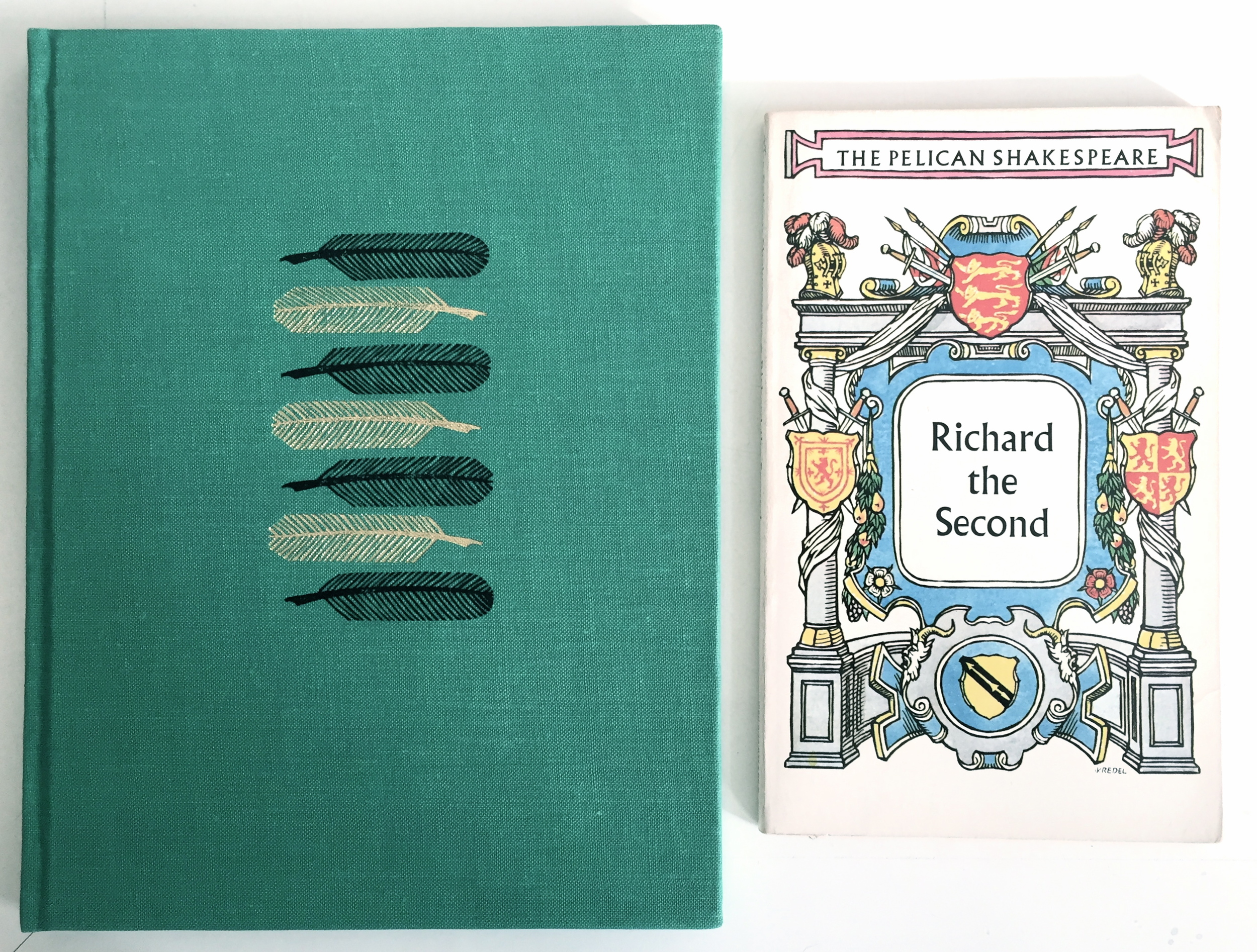 ADOPT US! LEFT:  A Midsummer Night's Dream  (Folio Society, 1957); RIGHT:  Richard II  (The Pelican Shakespeare, 1979)