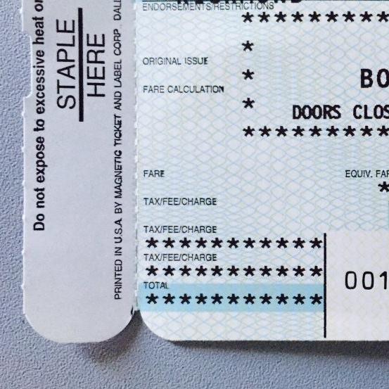 Asterisks (+ Airline Ticket)