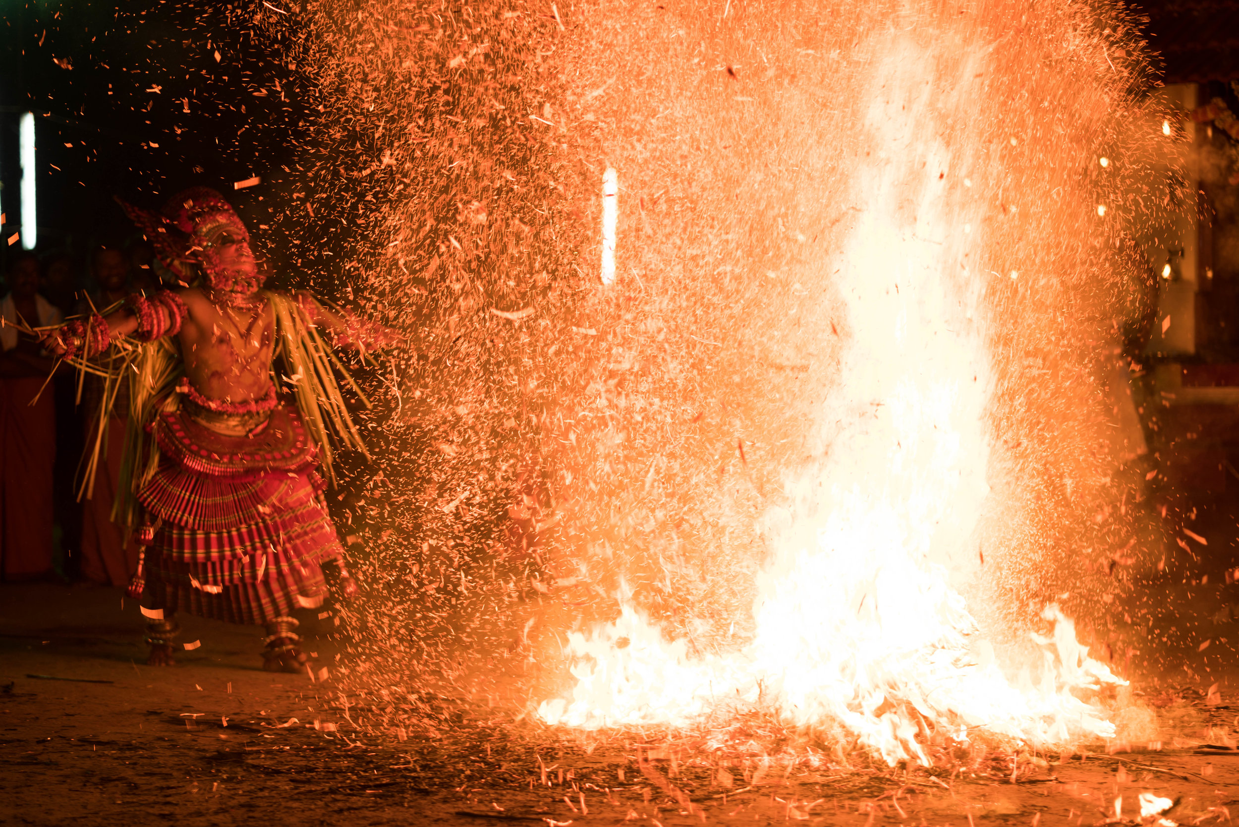 Fire Theyyam, Kannur, India