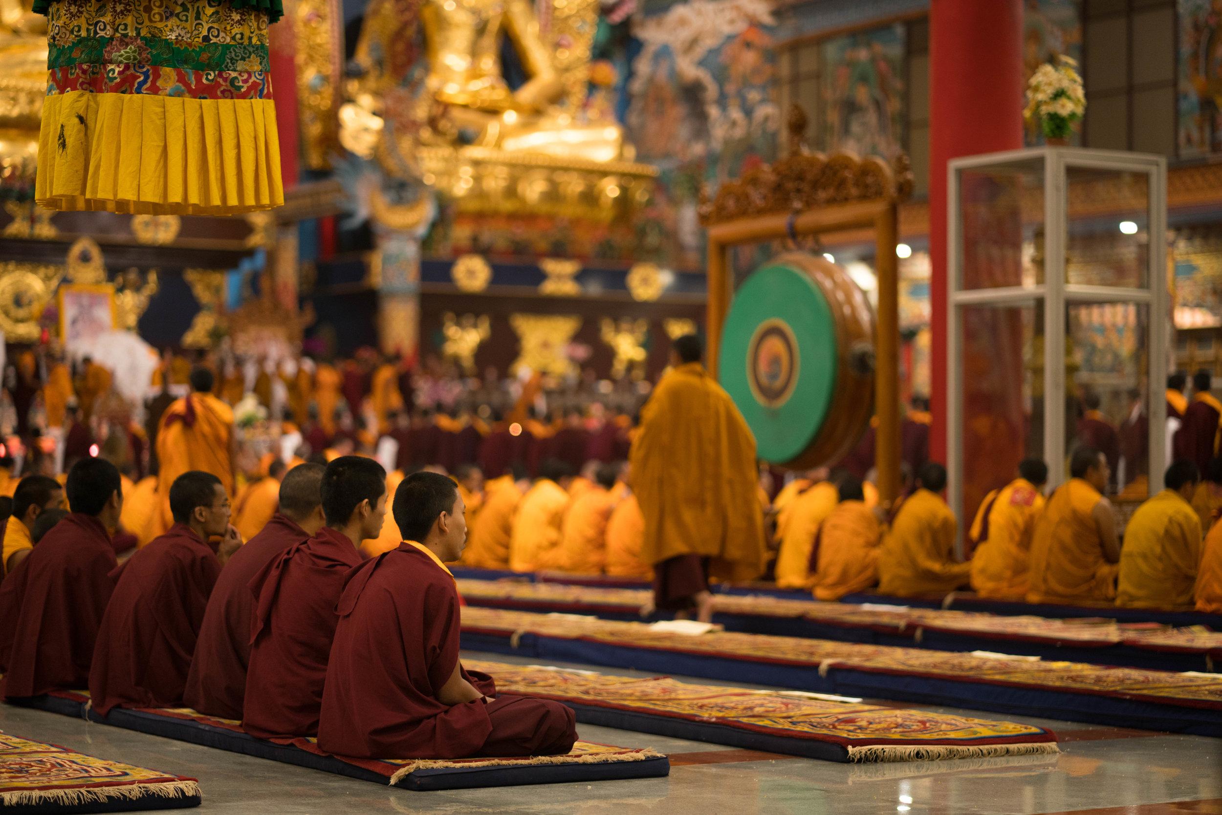Namdroling Monastery, Bylakuppe, India
