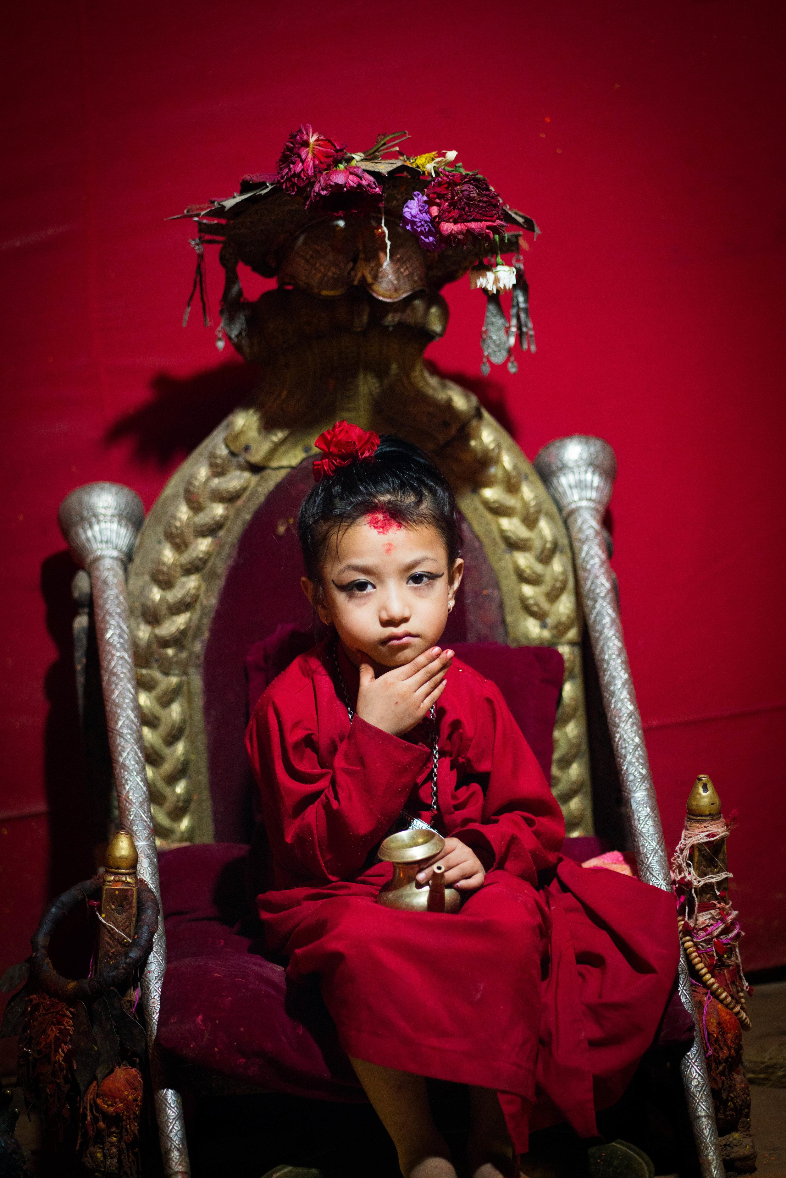 Kumari, Living Goddess, Lalitpur, Nepal