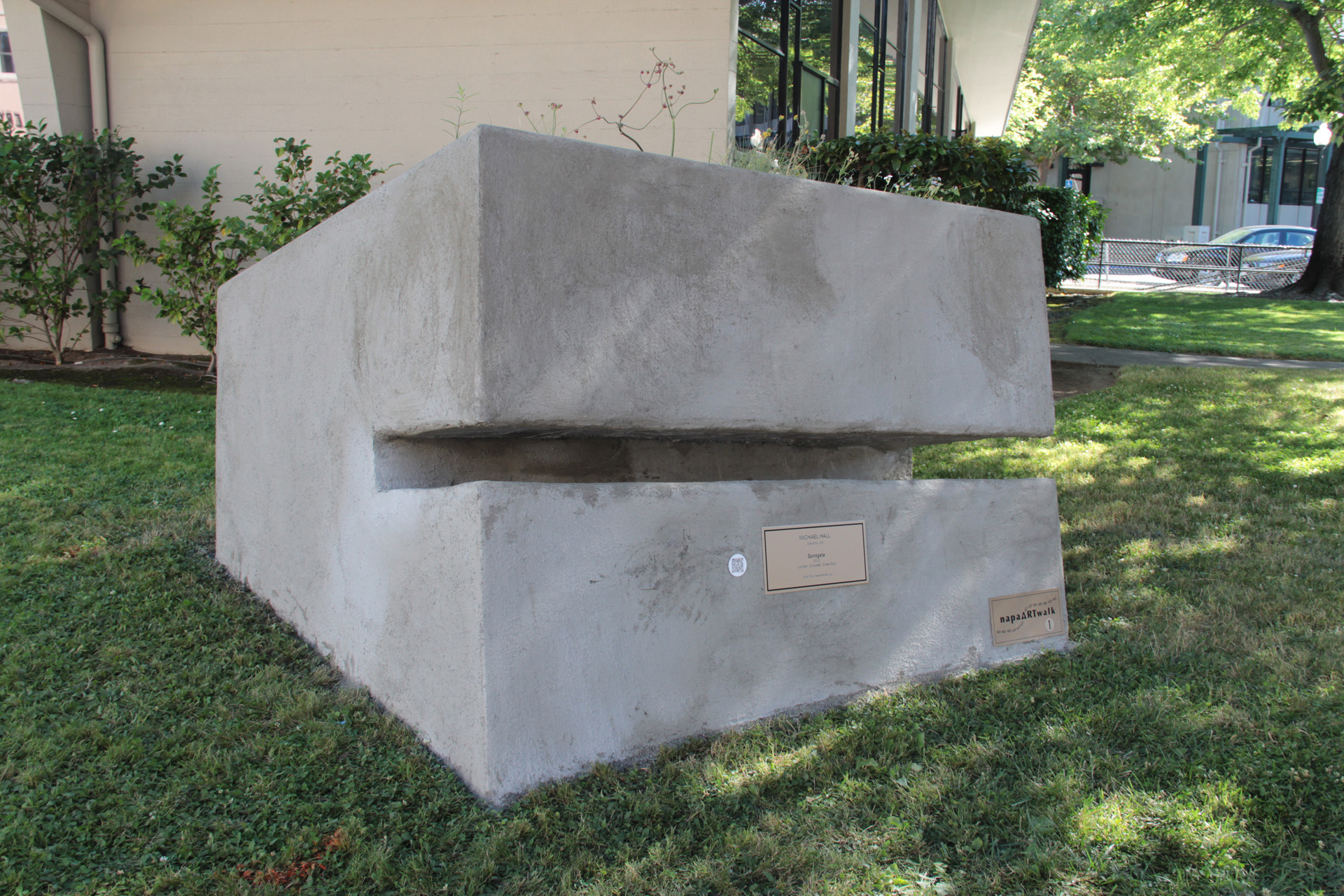 Surrogate  installed in front of Napa City Hall as part of the city's ARTwalk. On view through June 2015.