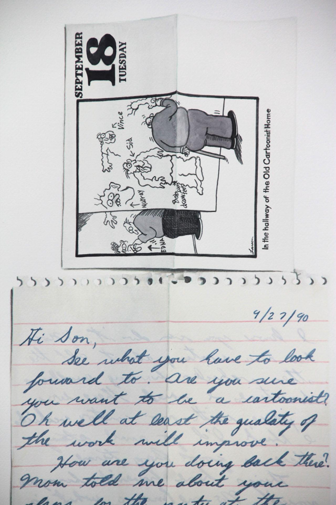 Cartoonist, 9/27/90 (DETAIL)