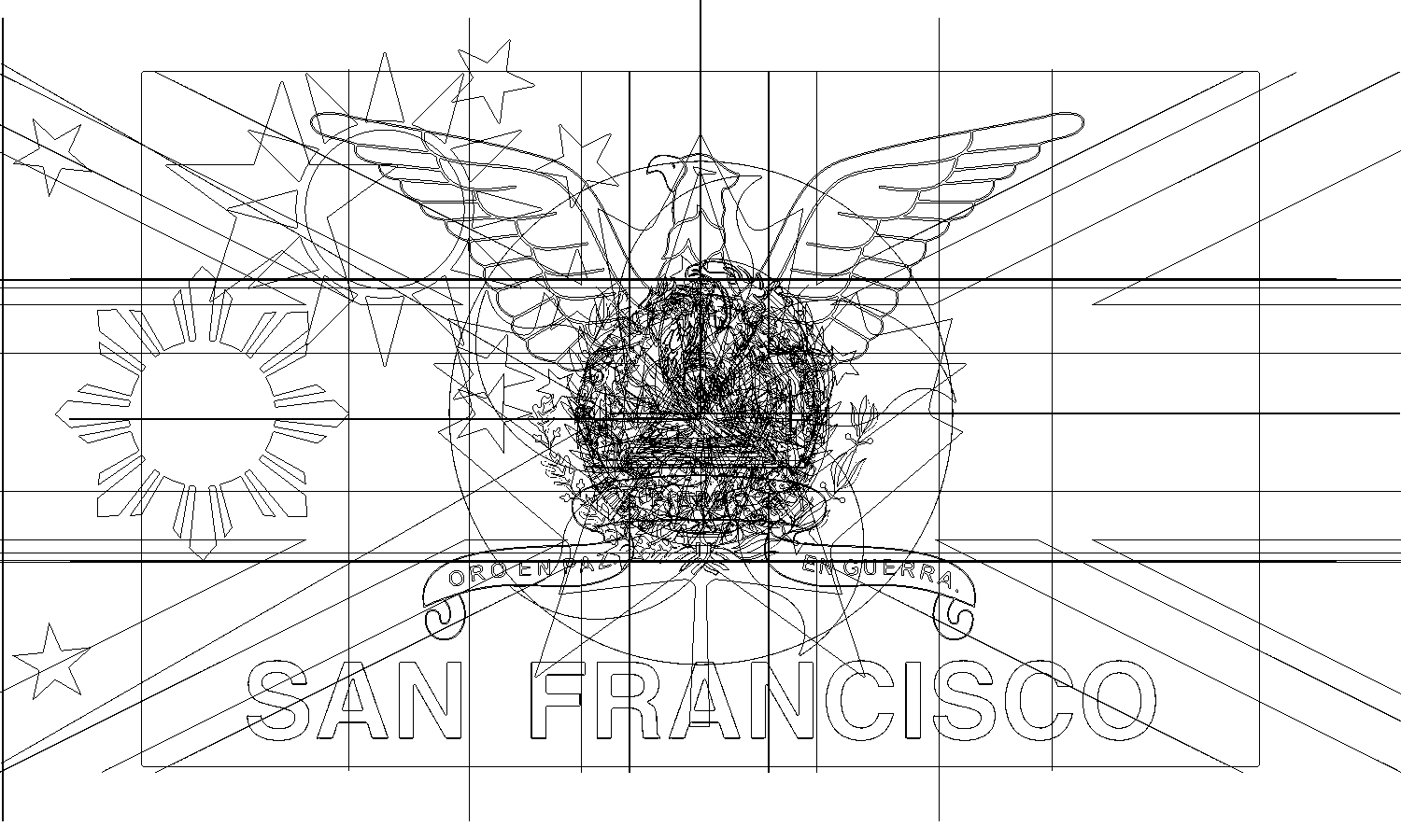 Sanctuary City, 2018, stamp, ink, edition of 300
