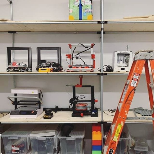 Great floor to ceiling shelving build by MontreaLab Makerspace!  #makerpipe #3dprinting #3dprinter #buildityourself #diy