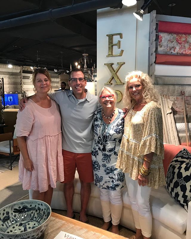 Eric Lail , LeeIndustries VP of Operations ( VIP of awesomeness!) visits Expressions  #workingvacation#furniturefun#leeindustries#friendsinhighplaces