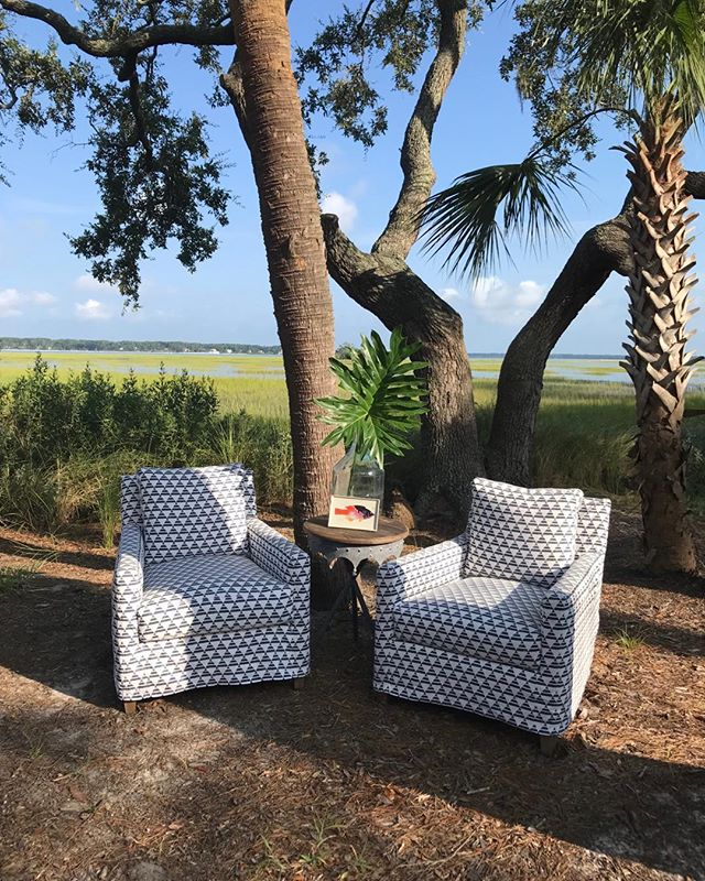 Living and loving the Low Country life.  @ ExpressionsFurniture @leeindustries #madeintheshade #baynardcove #summertime