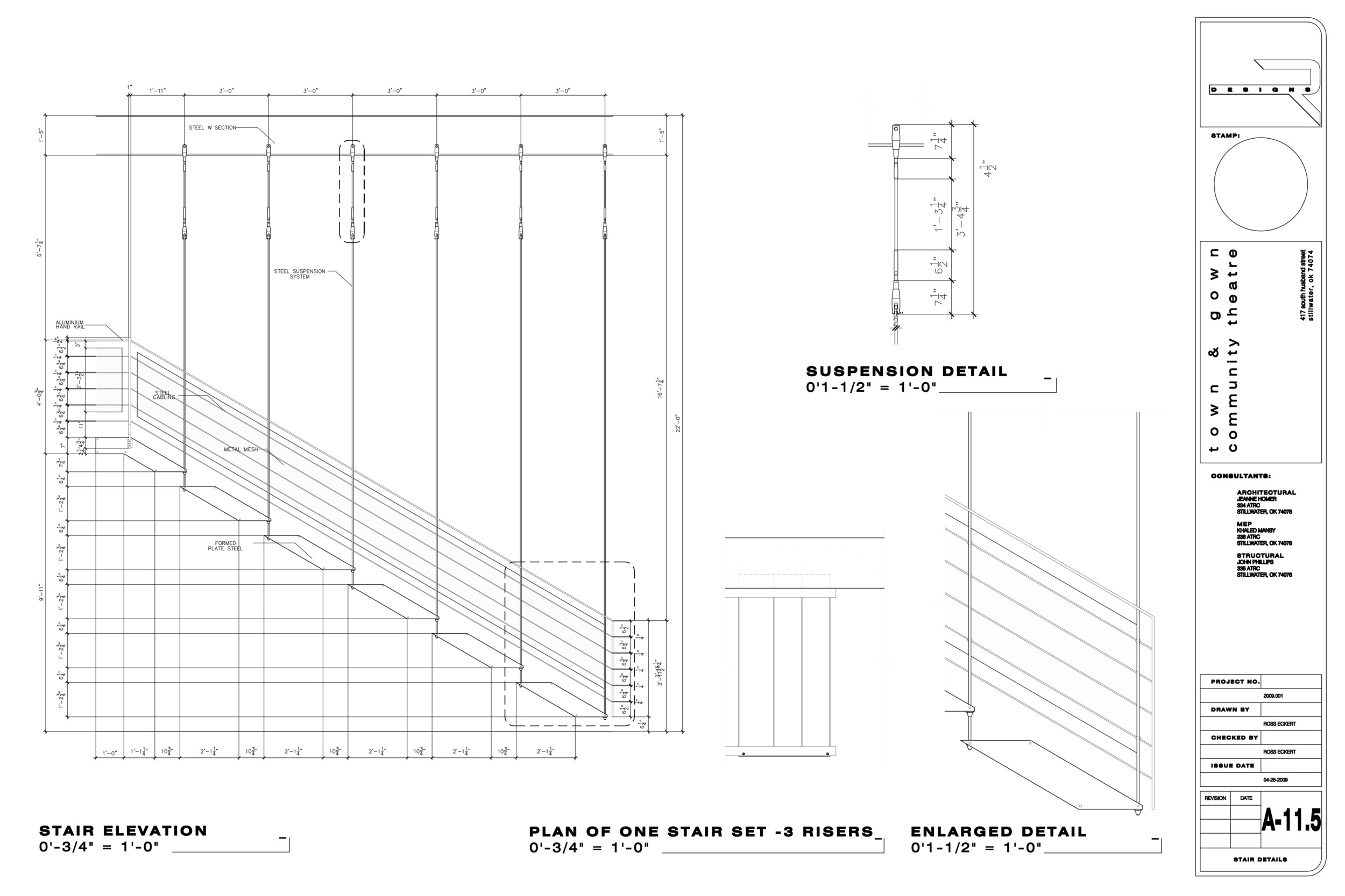 Academic construction documents, stair details