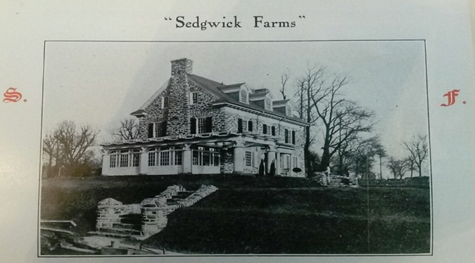 The house as it appeared as a model home in the Sedgwick Farms Brochure 1910.
