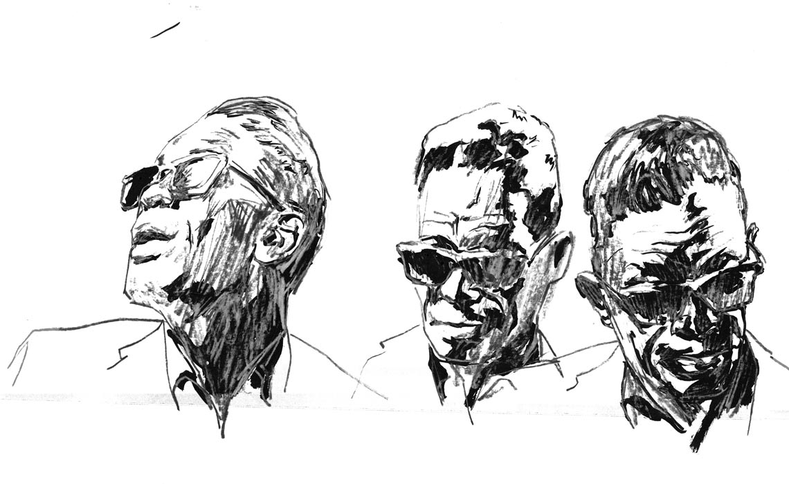 3 Sketches of Lightnin' Hopkins