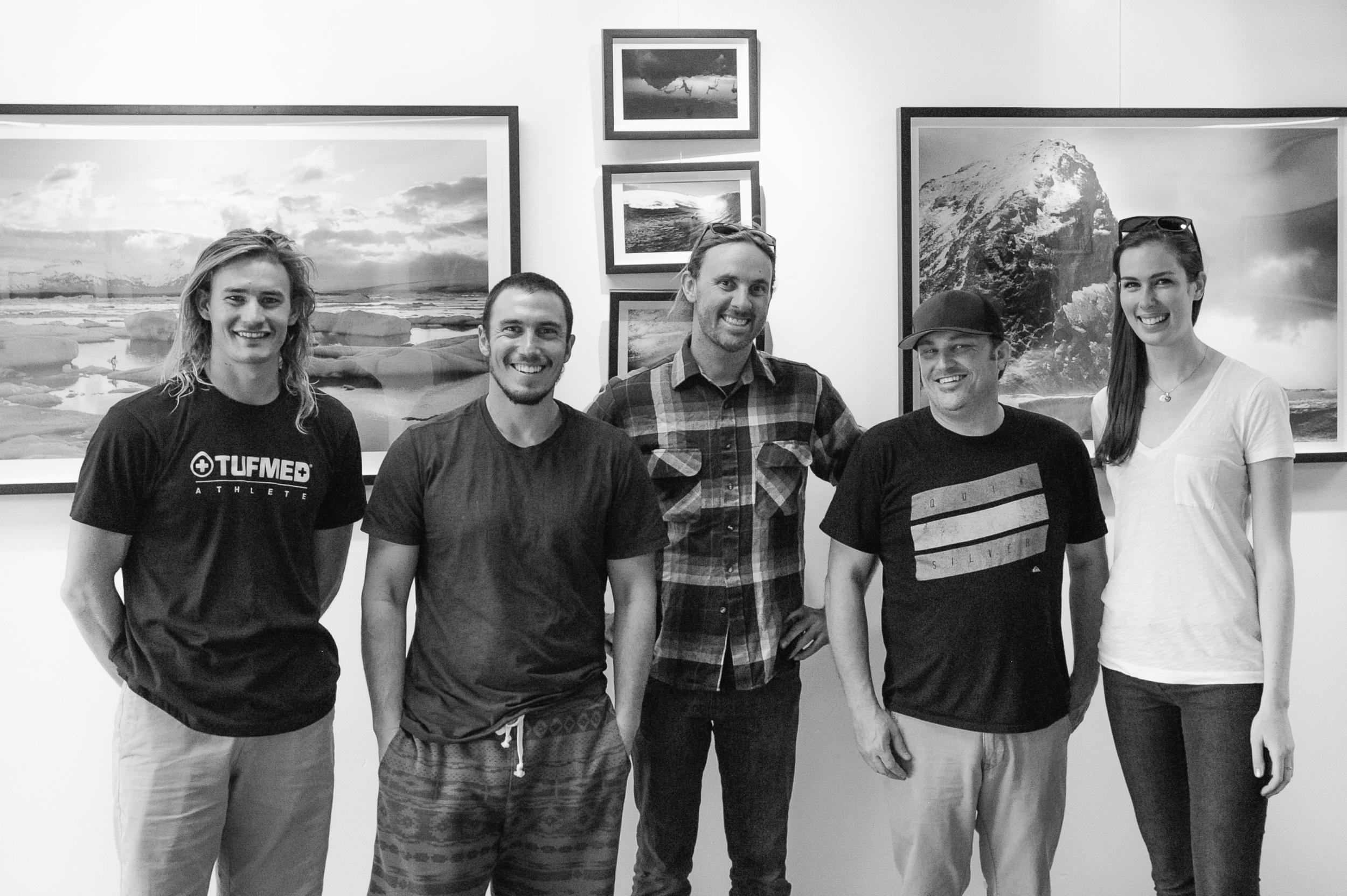 At Chris' gallery in Avila Beach!