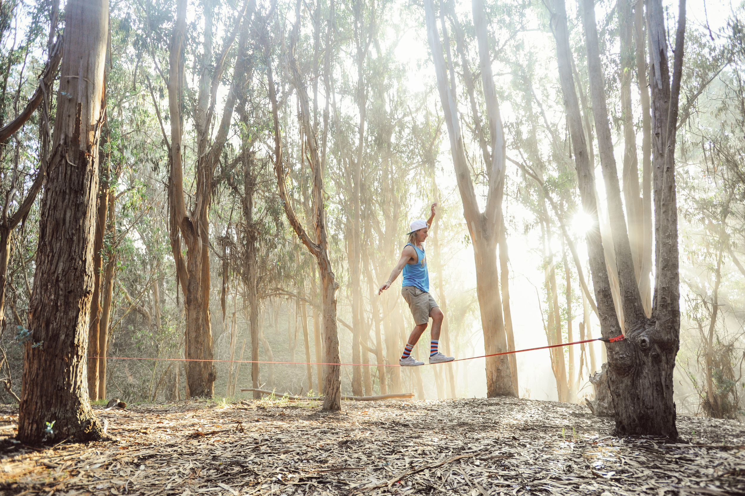 Slacklining and the most magical light in Montana de Oro National Park.