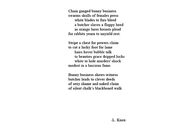Bunny Business Poem