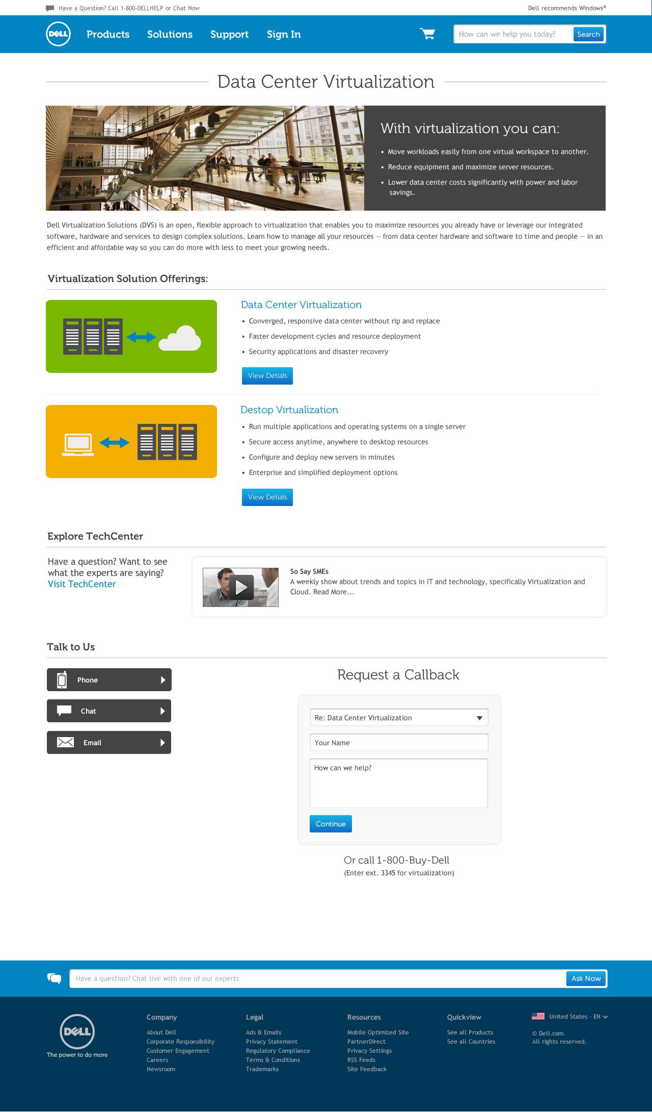 enterprise solutions details page