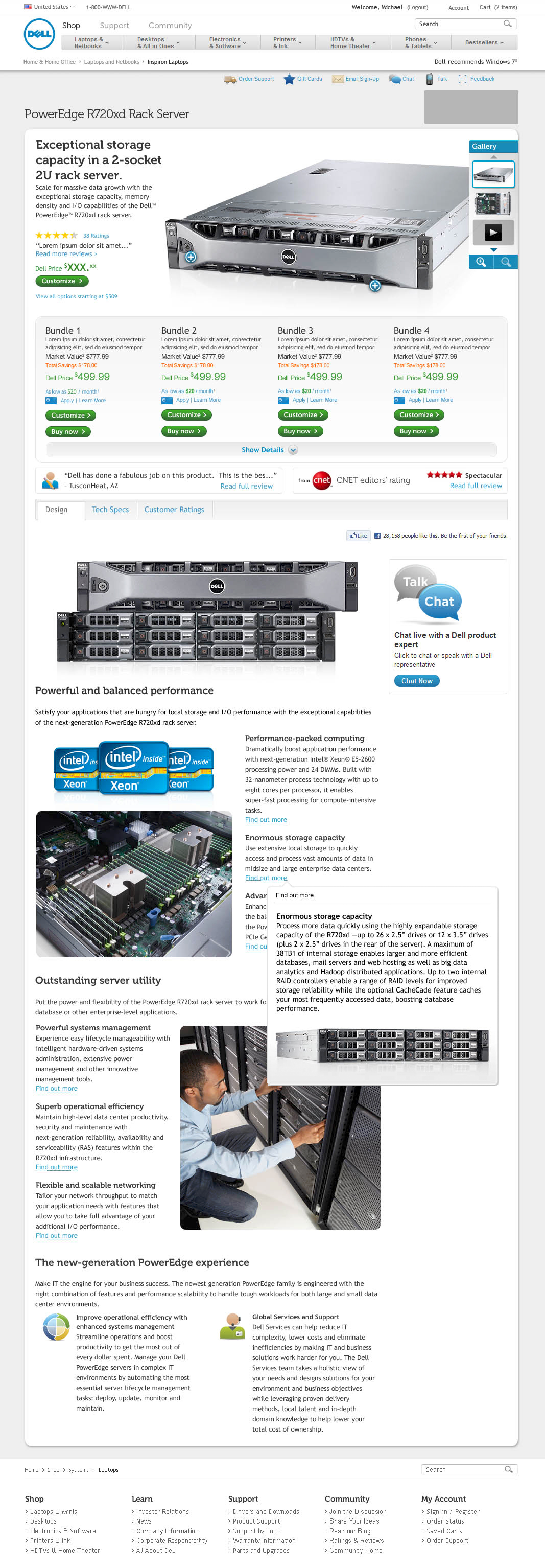 product details page