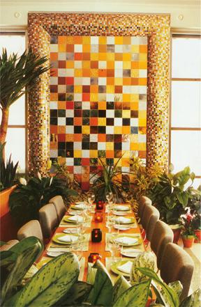 Mosaic Wall  The Hotel  at South Beach / Miami FL.