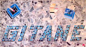 Mosaic Floor Insert Cafe Gitane NYC