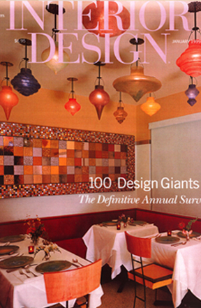 Design Magazine Feature Article  The Hotel  at South Beach / Miami FL.