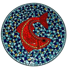 Mosaic Table Top King Fish Restaurant Boston MA