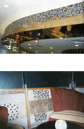 Mosaic Ceiling Accent  Mohagan Sun Casino