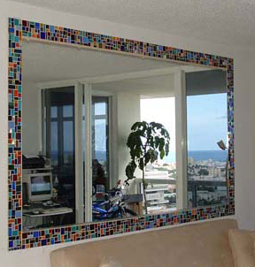 Mosaic Mirror Accent