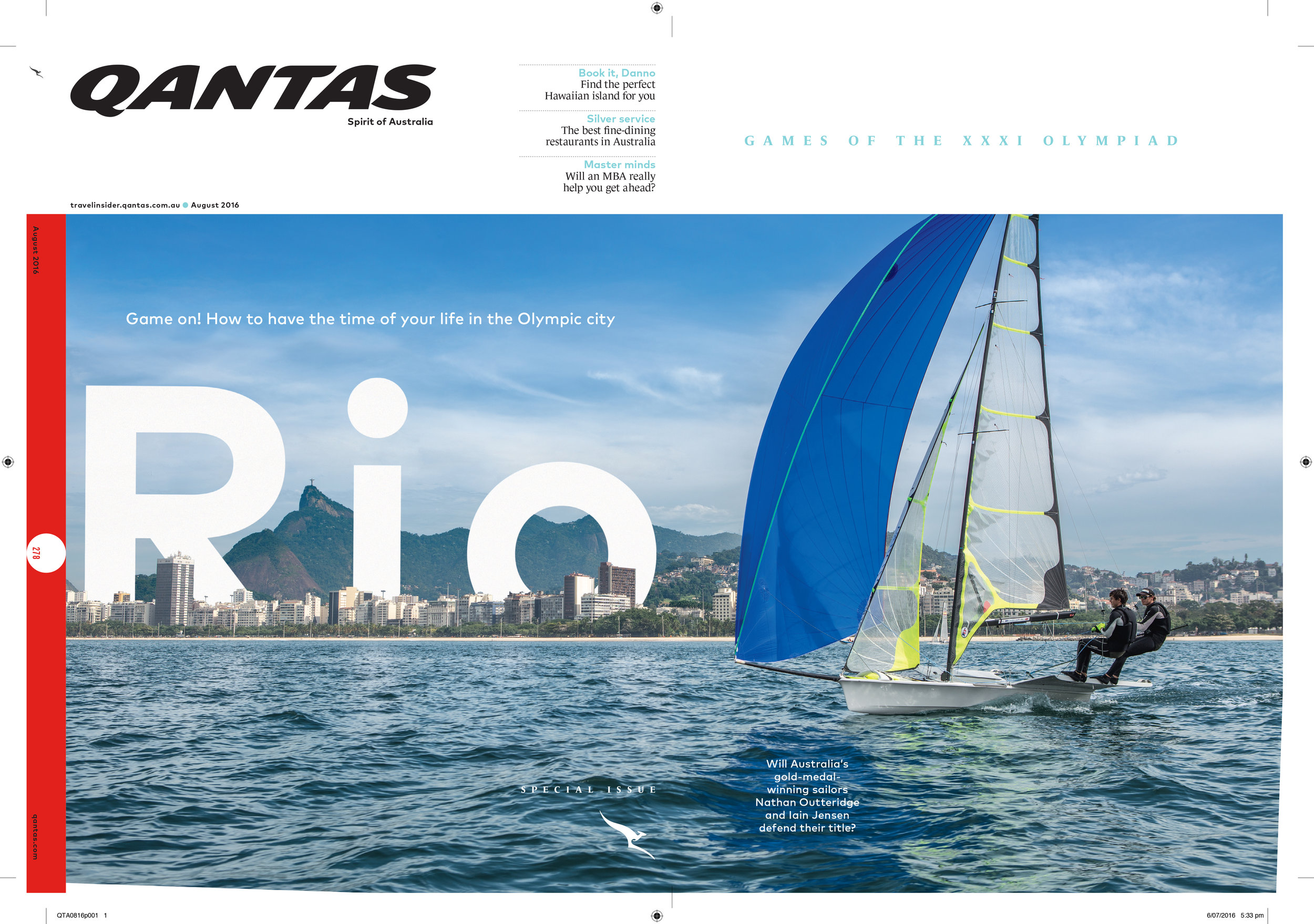 Double cover for Qantas inflight magazine