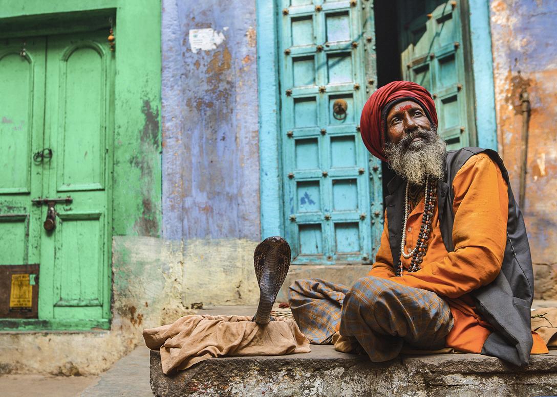 Snake Charmer in Varanasi
