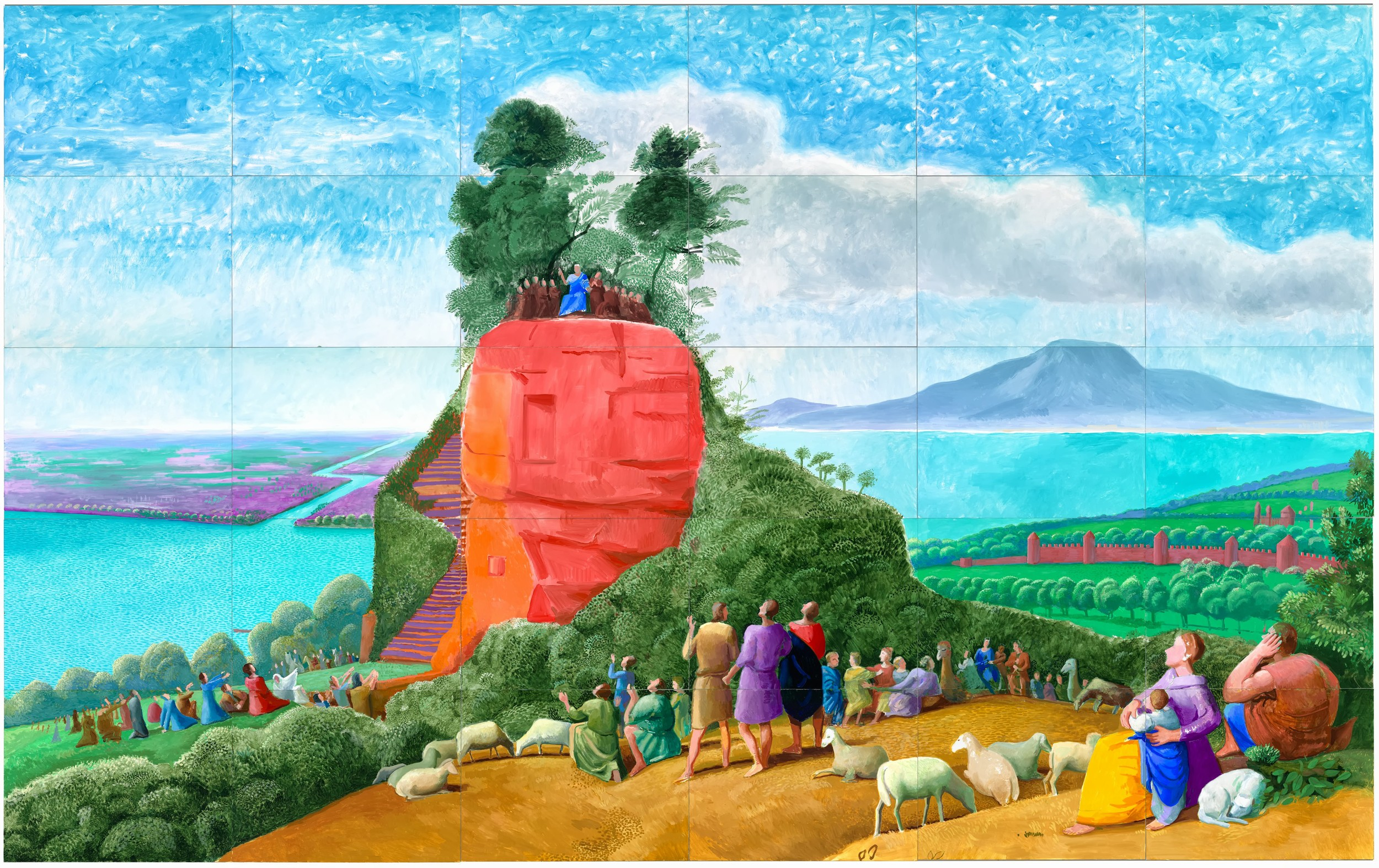David Hockney After Claude, The Sermon on the Mount