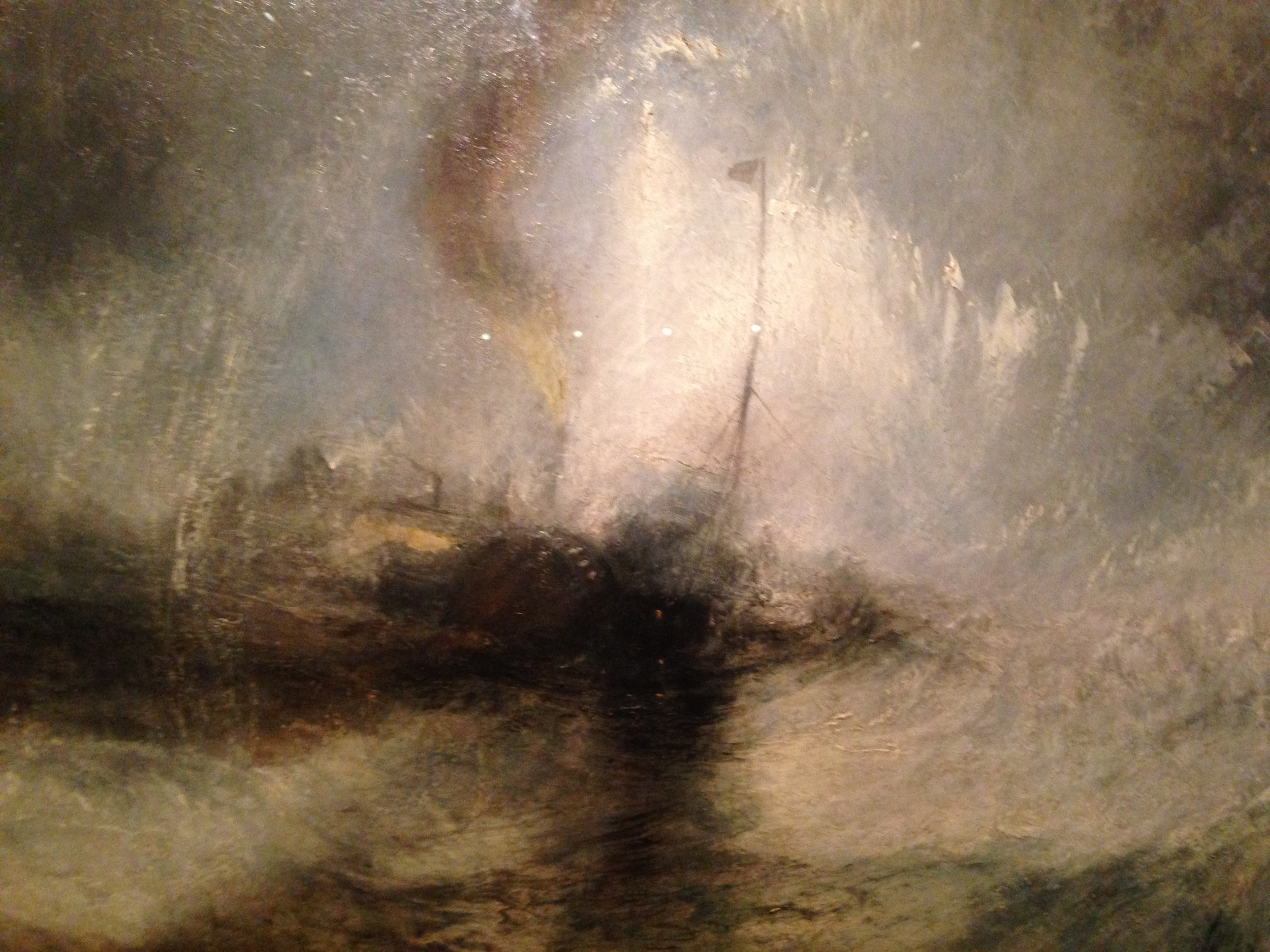 JMW Turner, (detail)  Painting Set Free Exhibit  De Young Museum, San Francisco