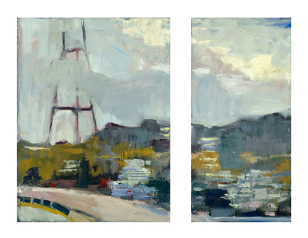 Harrison 4 (View from Studio) diptych