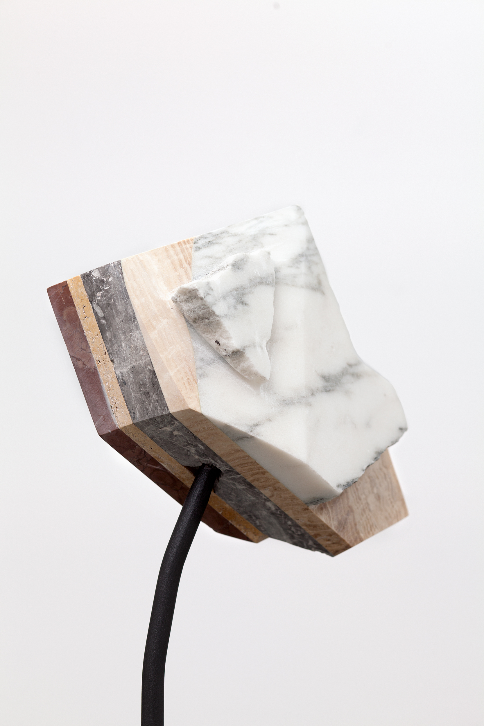 Detail of  Untitled (sculpture) , 2017  granite, marble & steel, 102 x 90 x 28cm Photo: Jasmine Fisher