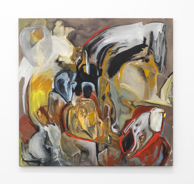 Untitled (Boundary Behaviour III) , 2018  oil & oil stick on linen, 86.5 x 91.5cm