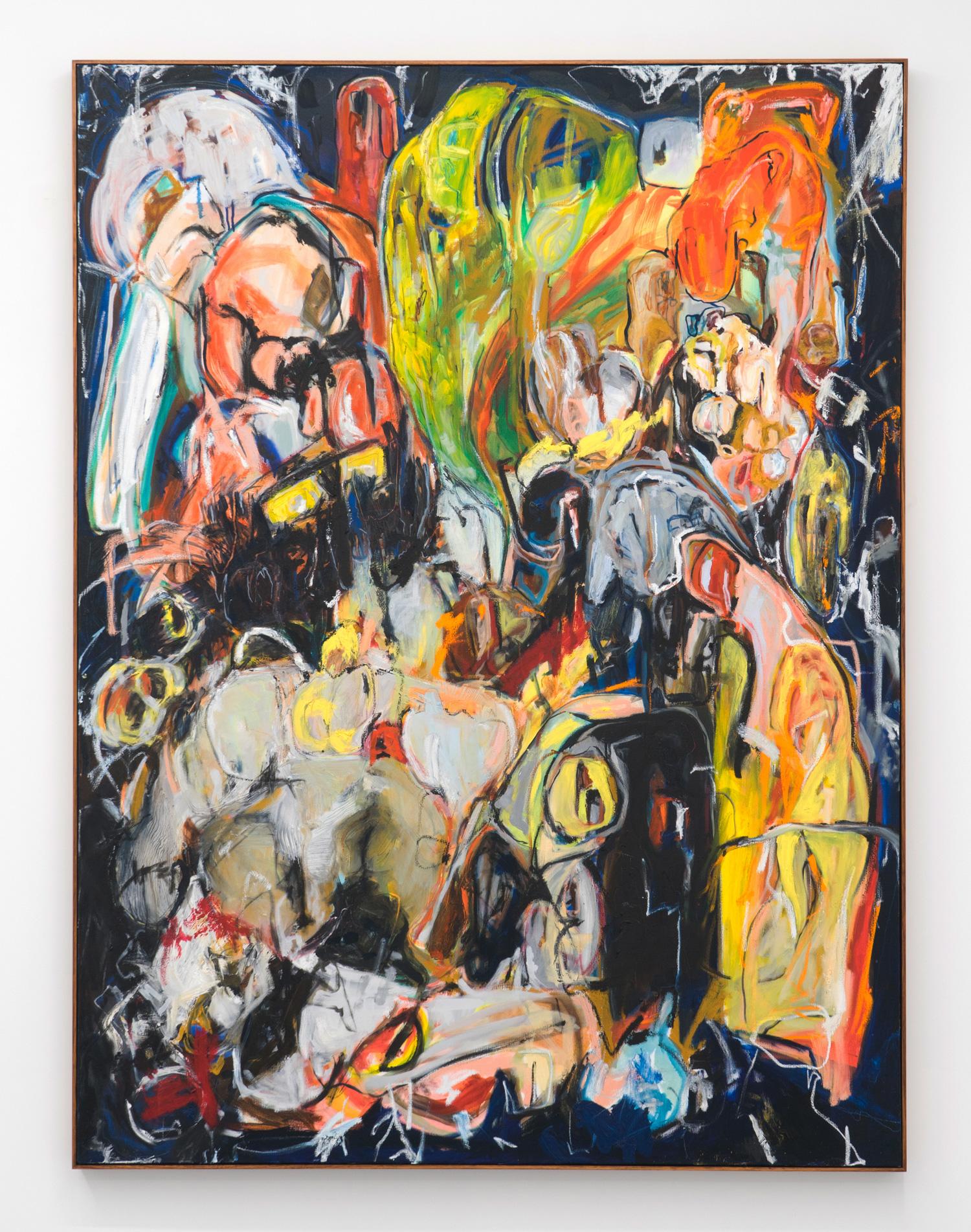 Untitled (Boundary Behaviour I) , 2018  oil, enamel & oil stick on linen  185 x 138.5cm (framed)