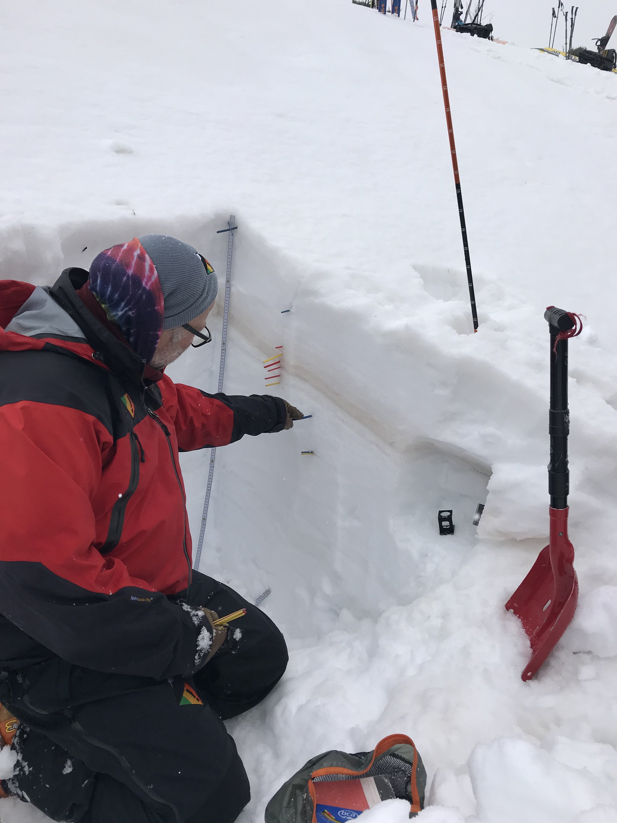 Water soaked snowpack