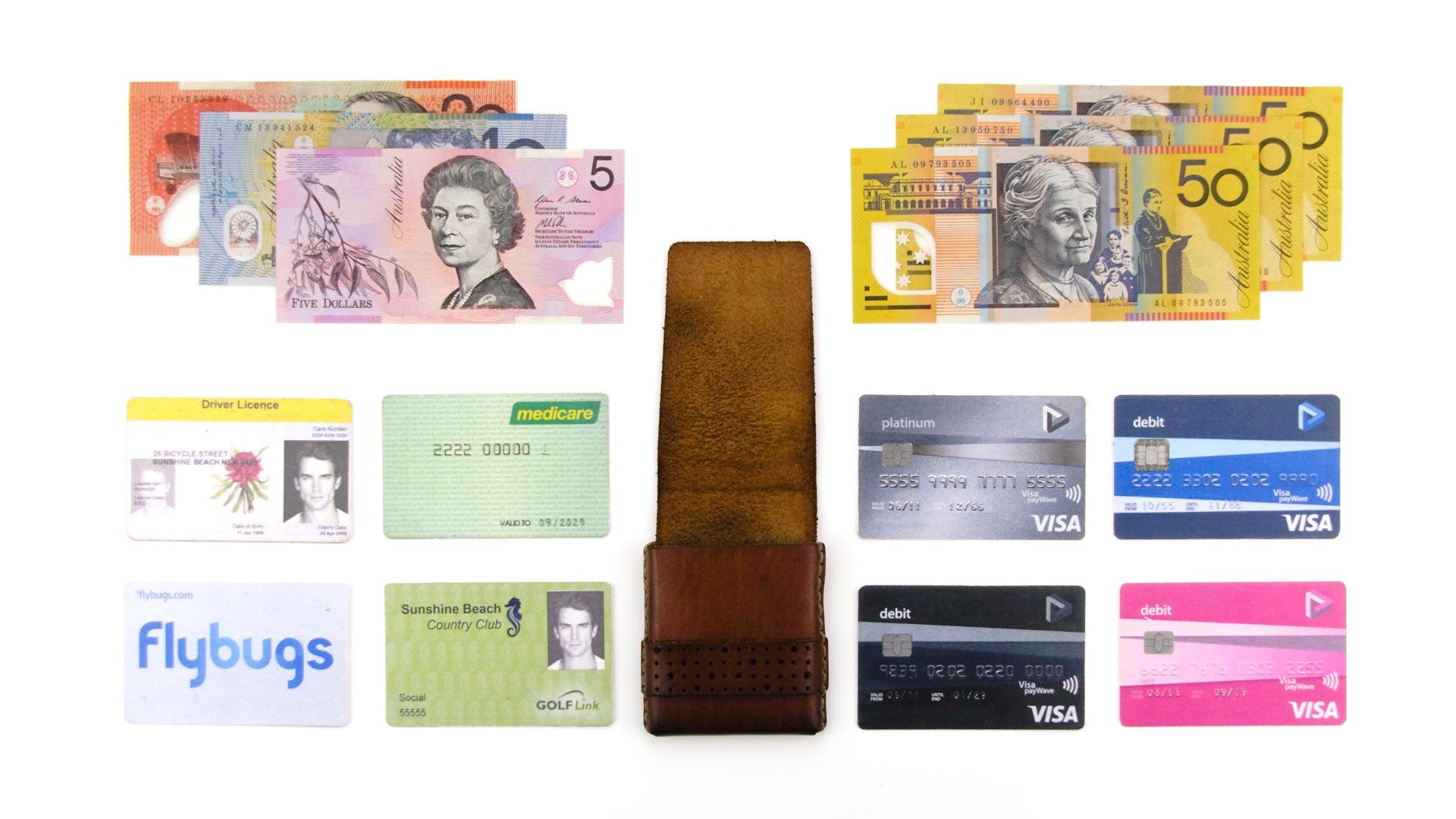 amazing contents of slim wallet-minimum wallet