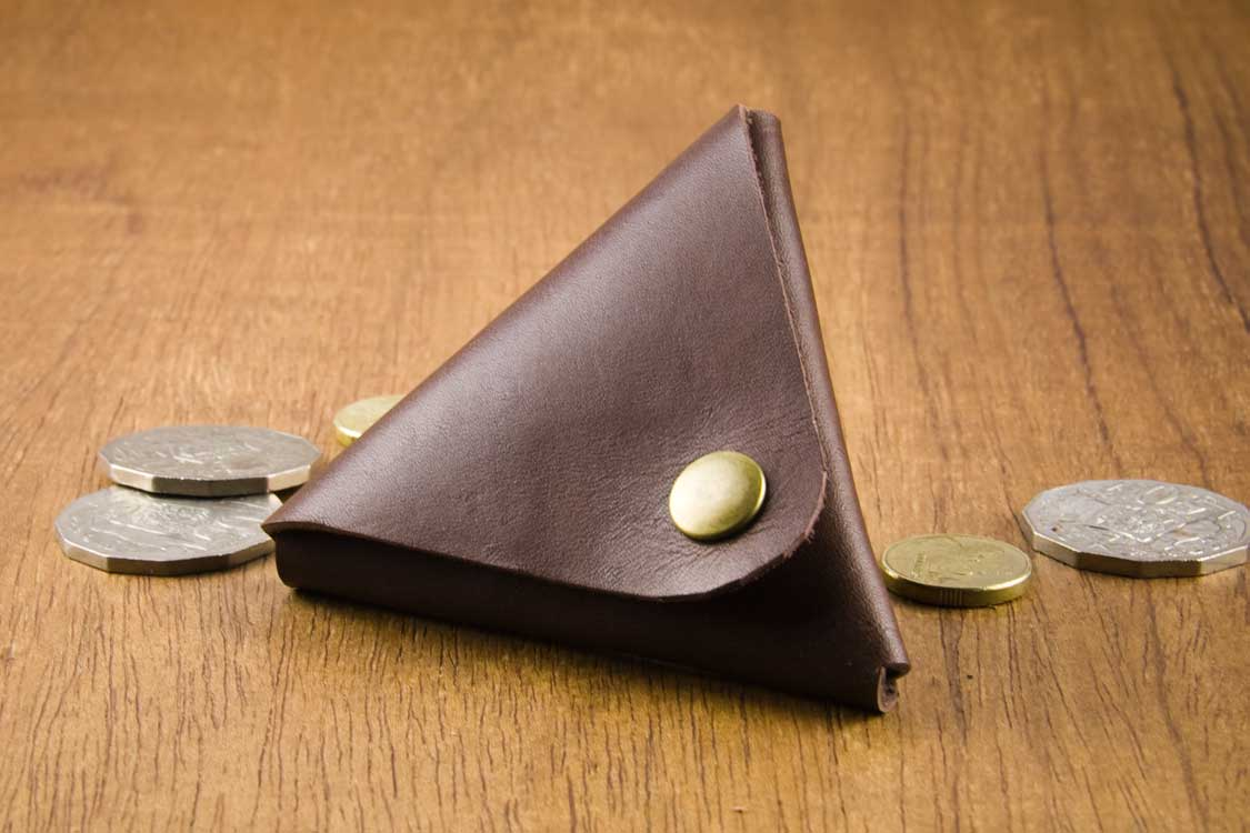 Leather Coin Wallet; Leather Coin Purse;
