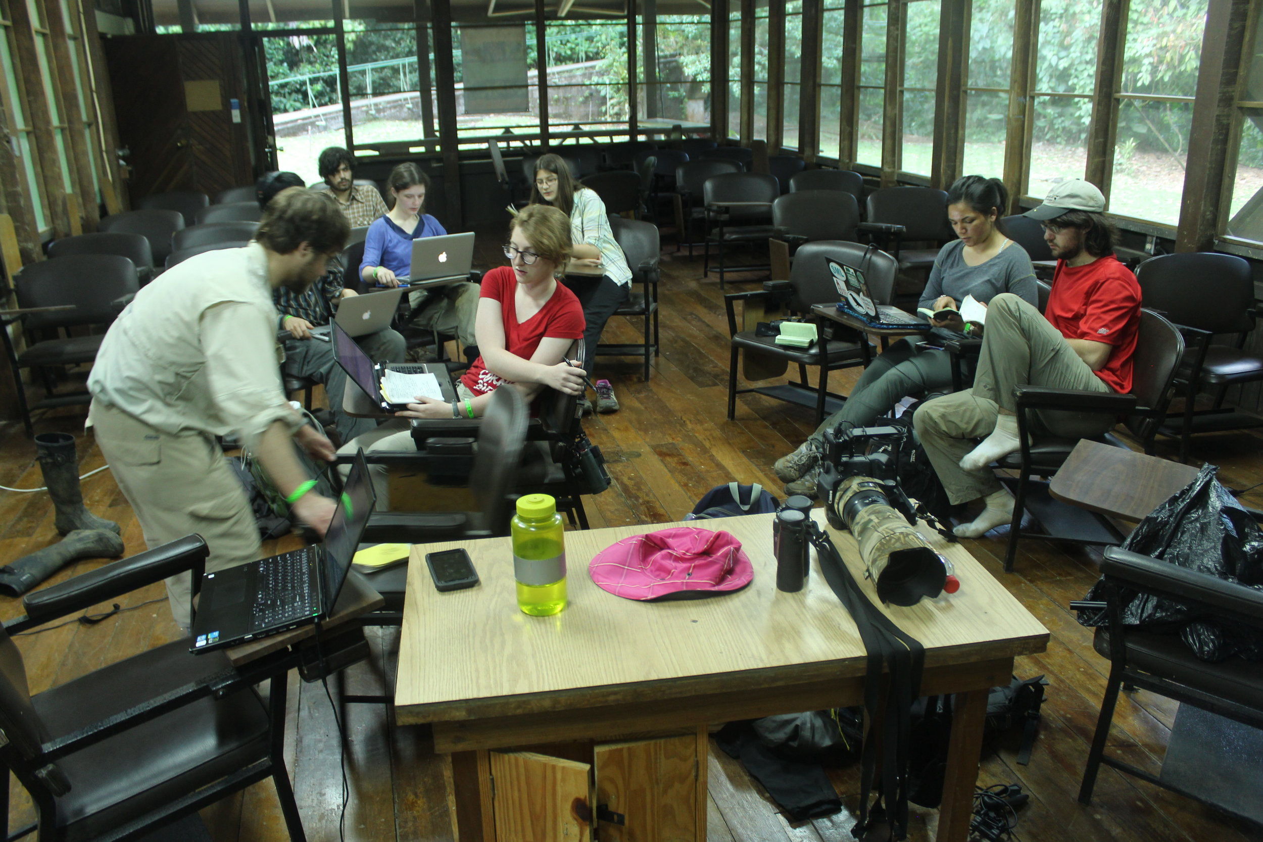 …and then back in the classroom, talking about what to do with the data from the field