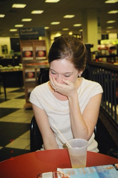 My sister loves this picture of me so much. It reminds me how much I LOVE to laugh. I mean really laugh to the point where you're spitting out your drink in your hand. Sometimes I don't laugh as much as I should.