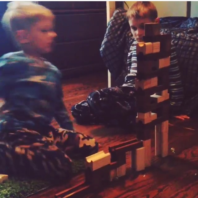The marble run my son made without instructions.