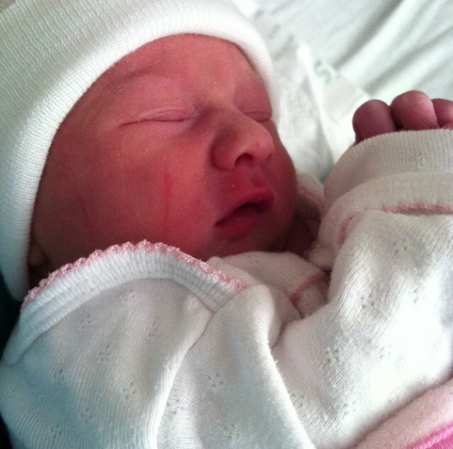 Baby O. Our last born in the hospital. She is our ENERGY in this house. Almost three years ago.