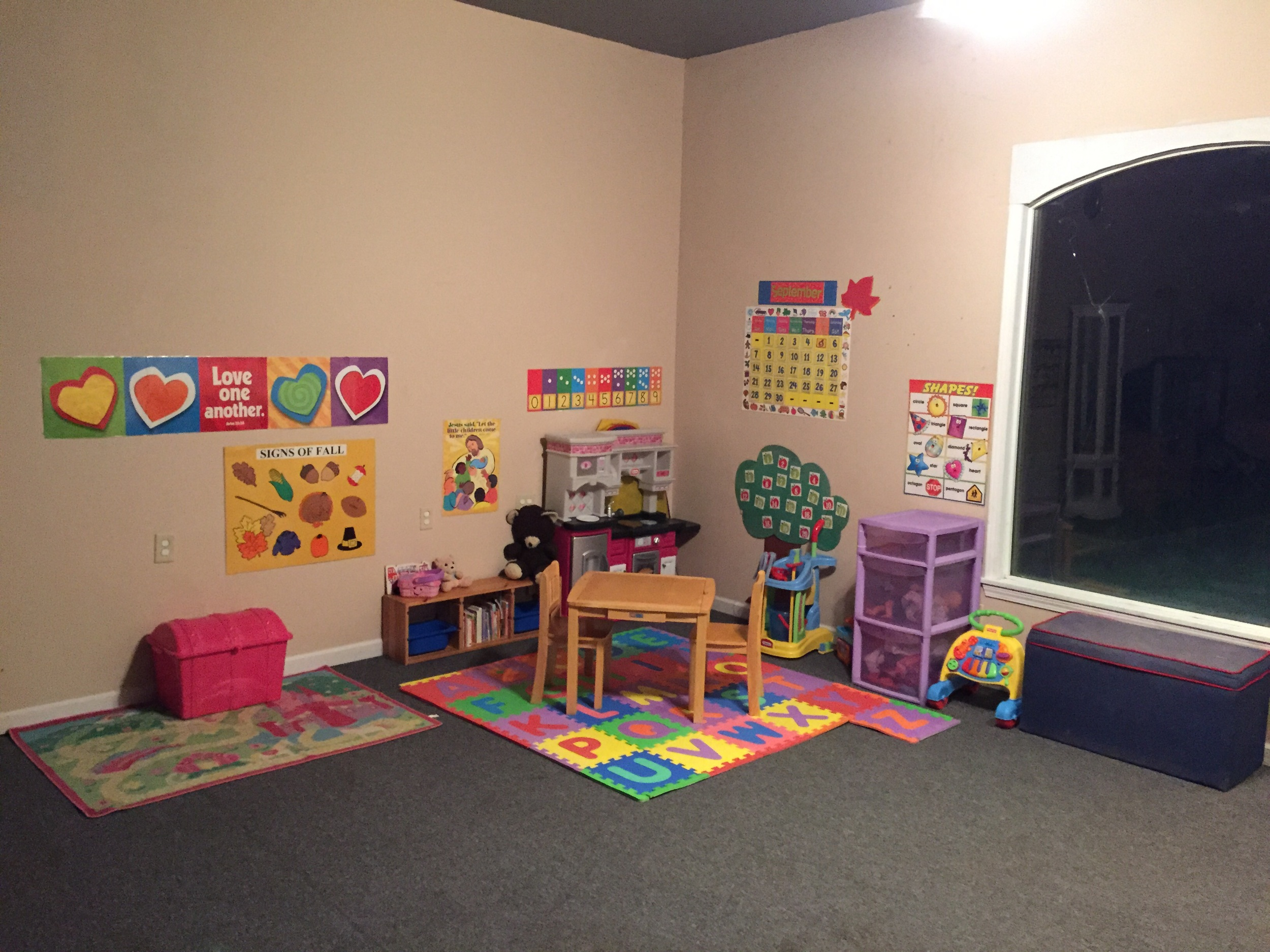 The Preschool Area of our schoolhouse.