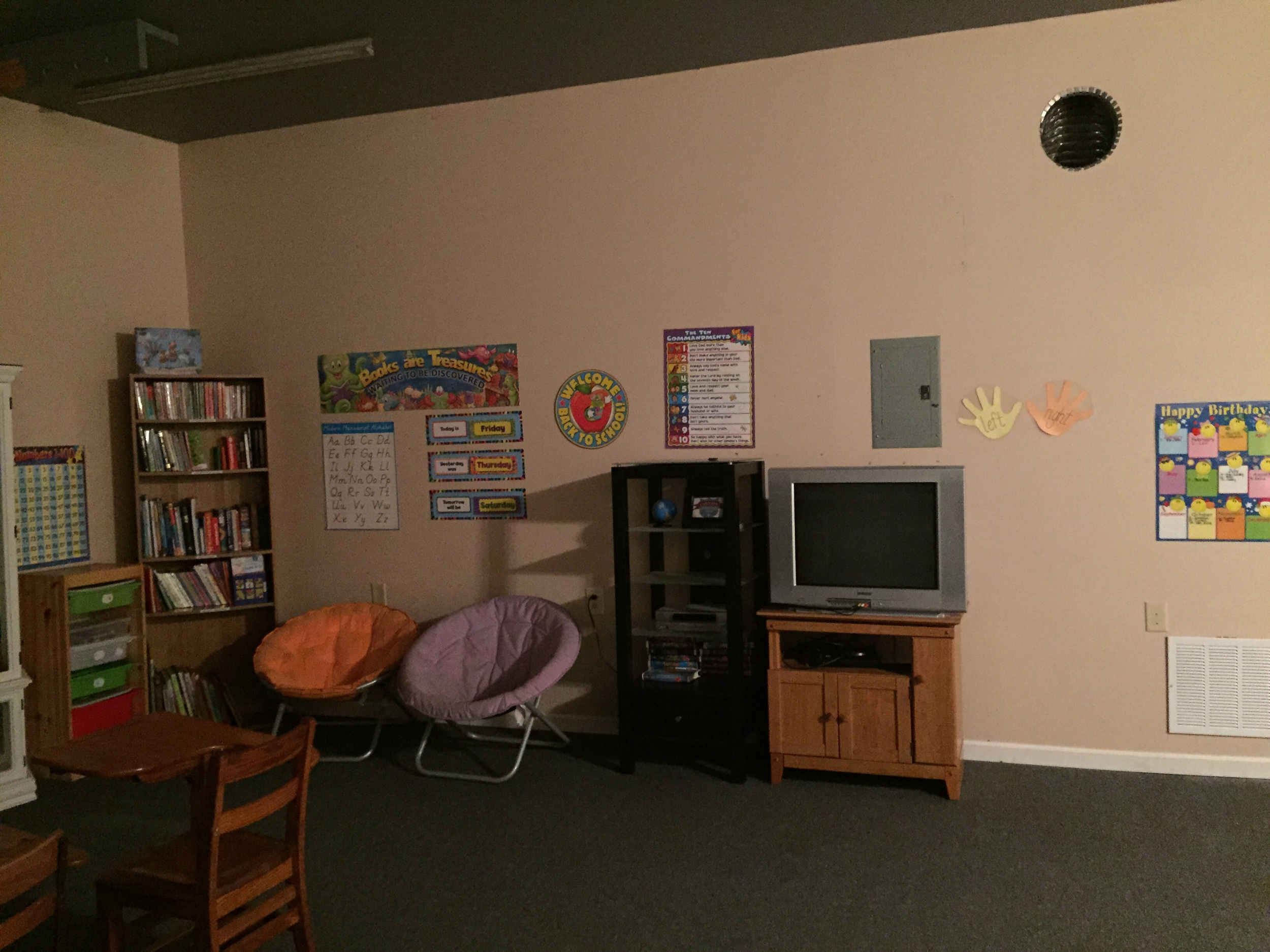 Media area and Library/Reading area. Not fully complete, but functional!