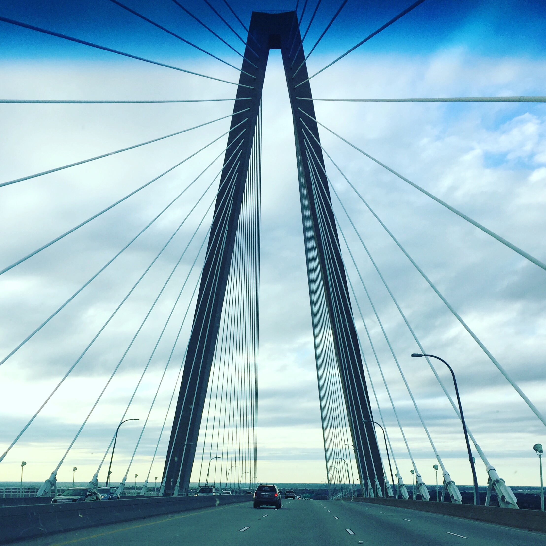 I have equal love and hate for this bridge. It's so super cool to drive under, but I hate bridges, let's be honest.