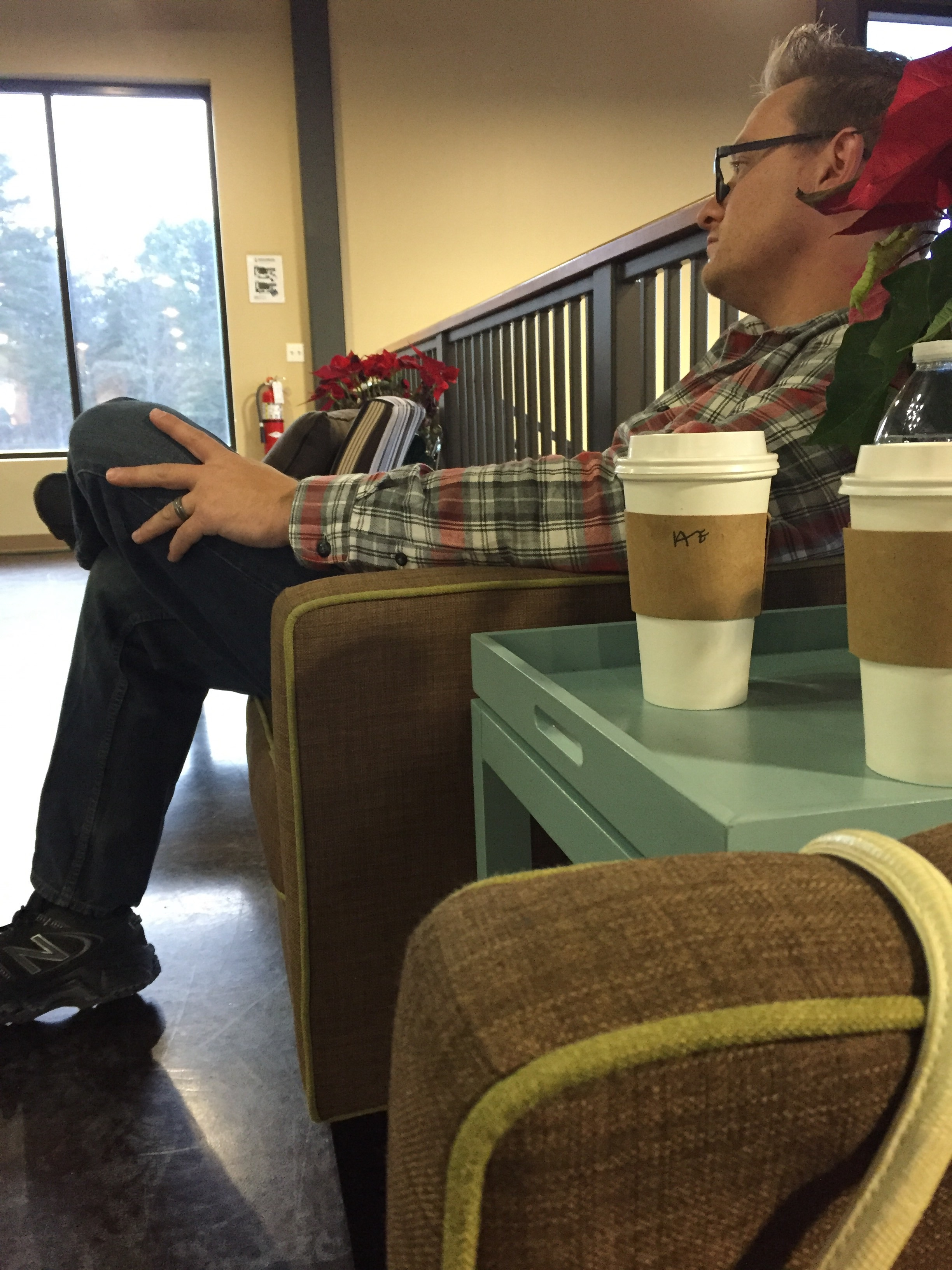 When you bring me a white mocha and sit next to me at church in the loft.