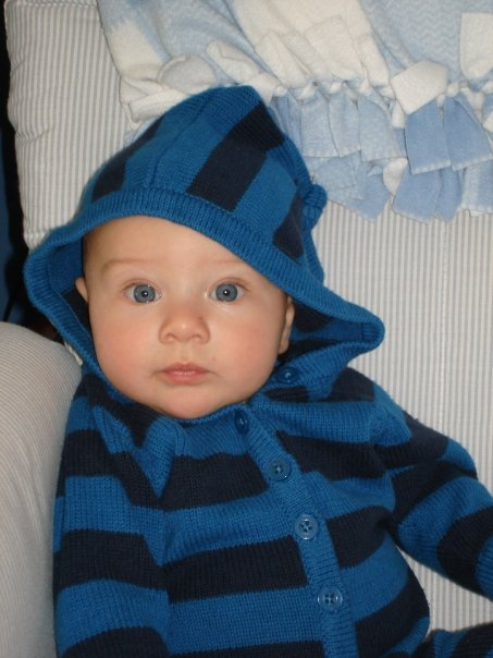 My second-born, Baby C, 2008. I nursed him for 12 months until he weaned himself.