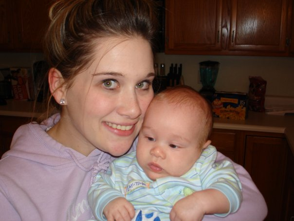 My first baby, Baby H, 2006. We struggled our way through those first three months: he with colic and me with post-partum depression, but we made it, and he nursed like a champ until his first birthday. He was my only that I didn't self-wean. You live, you learn.