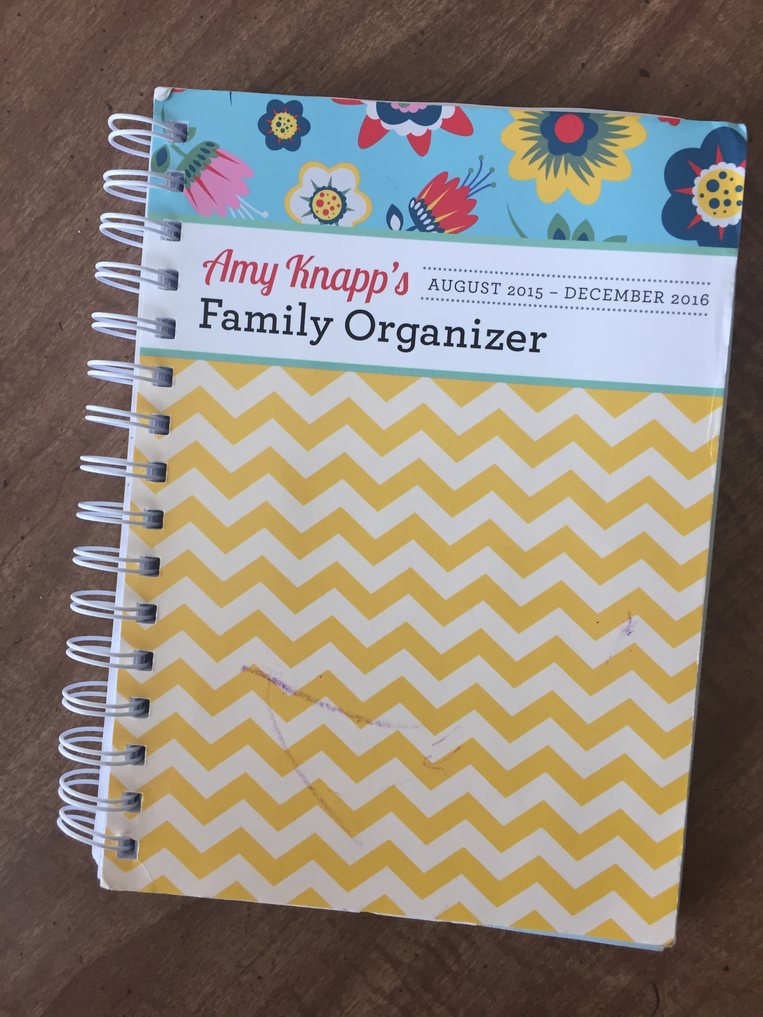 I got this amazing family planner for $7 at Barnes and Noble! Always try and get your planner for the year mid-January. Everything will be on clearance!